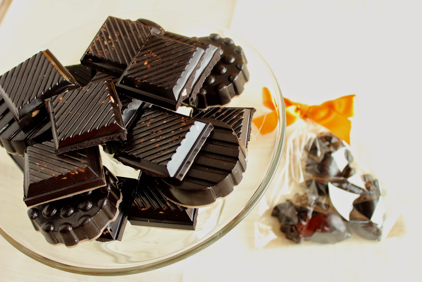 Dark Chocolate with Almonds Recipe via Kudos Kitchen by Renee