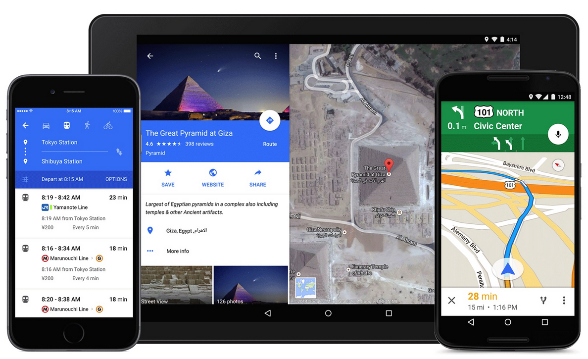 Google,Google Maps,Android,iOS