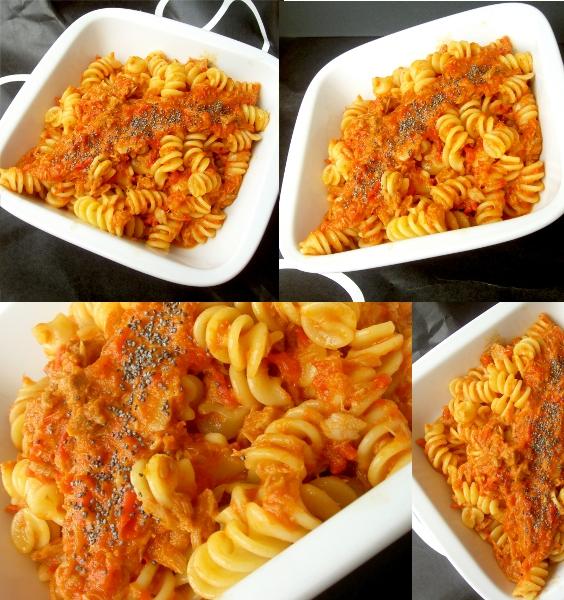 salsa ai peperoni con tonno e pasta