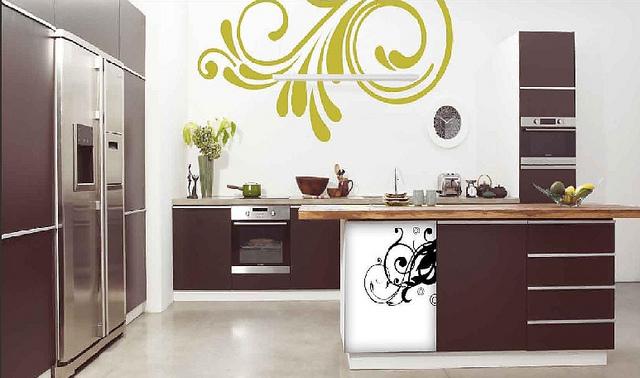 Pintura y madera cambia el estilo de tu cocina - Vinilos cocina originales ...
