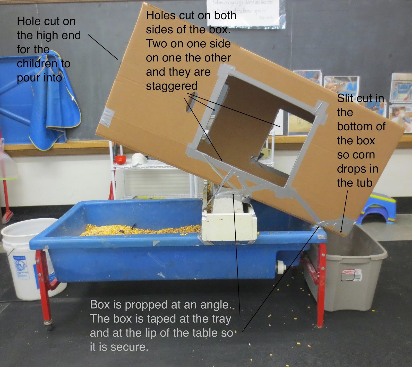 SAND AND WATER TABLES BIG BOX INCLINE WARDROBE BOX