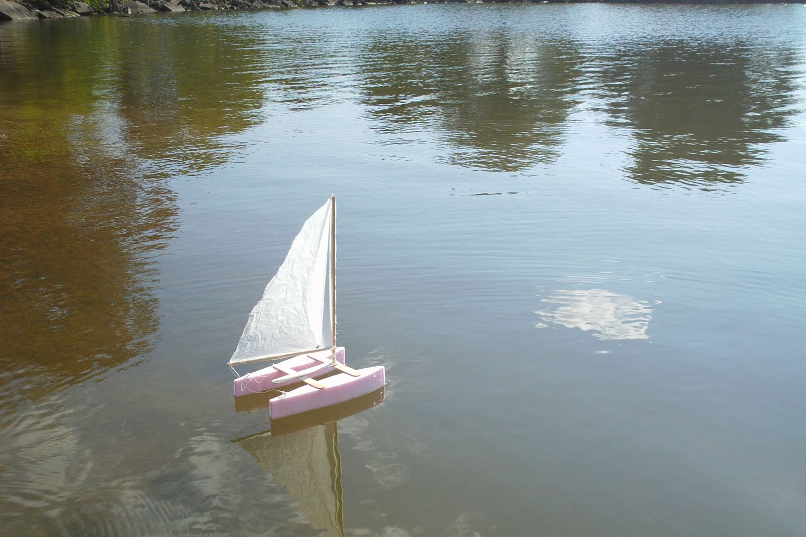 scienceguyorg ramblings simple catamaran sailboat model