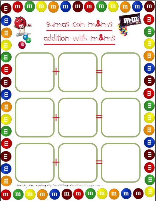 M Math Worksheets : Multilingual multiage math with m ms