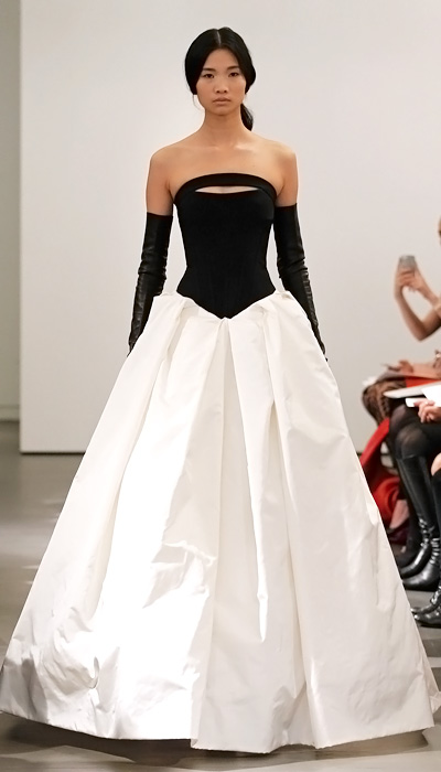 Blog vera wang 39 s new wedding dress collection for Leather wedding dresses black