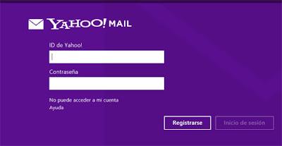 iniciar sesion yahoo correo