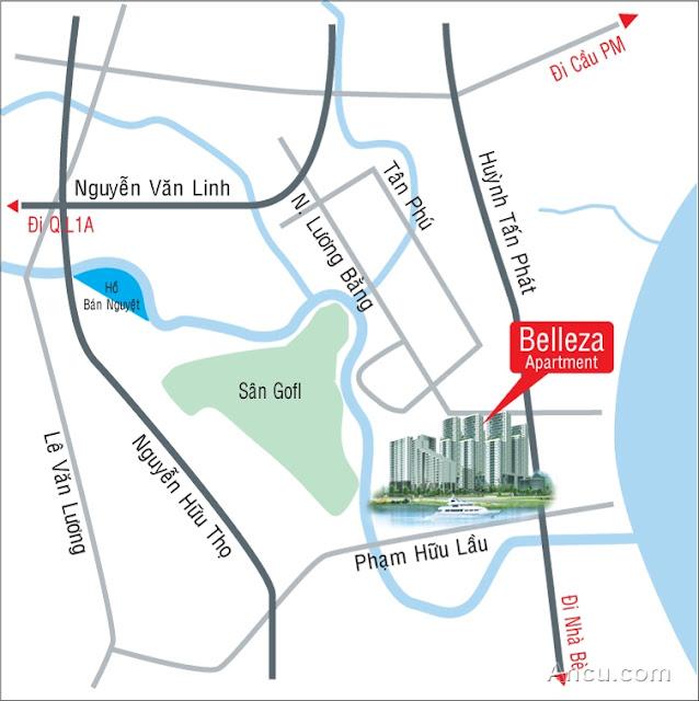 belleza0 Bán gấp căn hộ Belleza Quận 7 chiết khấu 3%, tầng 18, view sông Phú Xuân