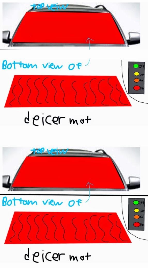 Picture Tyler drew of De-Icer Mat