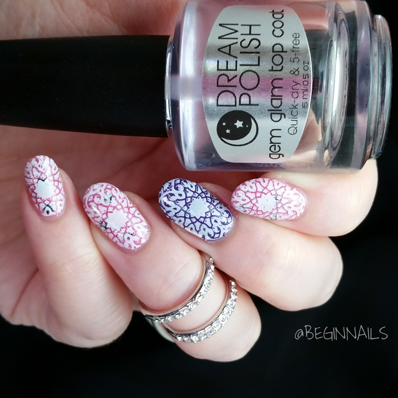 Let\'s Begin Nails: It Girl IG103 Stamping Plate Review Part 2