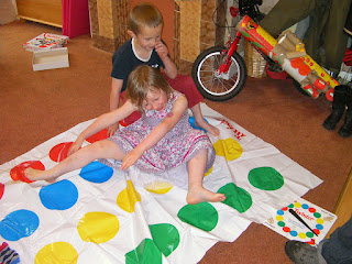 game of twister with 6 year olds