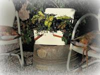 Vintage Picnic Basket Planter