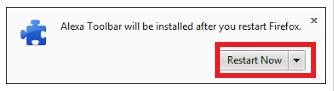 Restart Alexa Toolbar