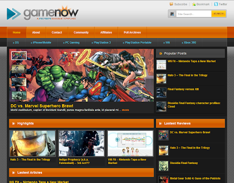 GameNow Blogger Theme
