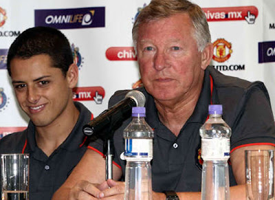 Sir Alex Ferguson Chicharito Hernandez Man Utd