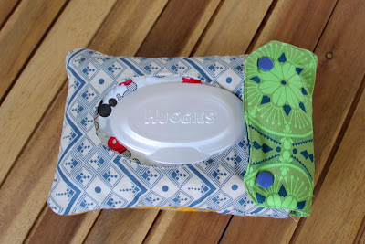 diaper wipe pouch - using Anna Maria Horner fabric