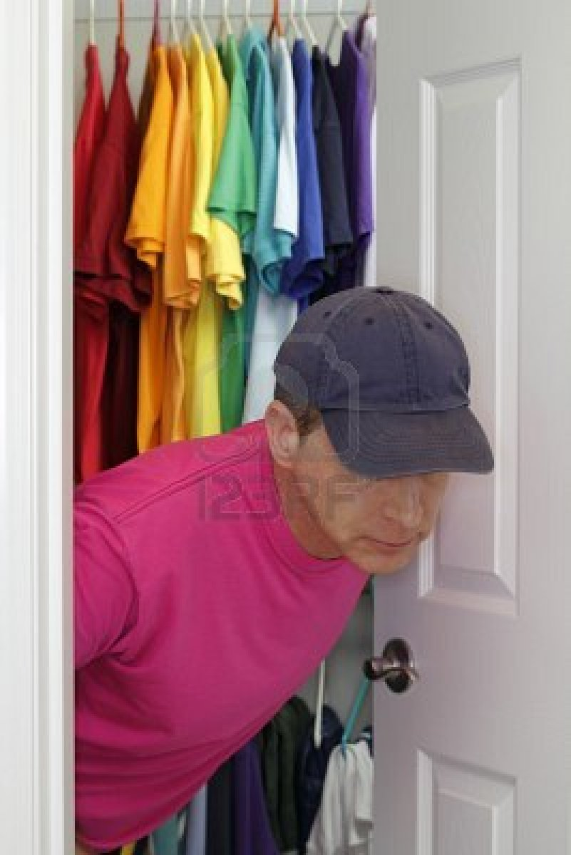 man in gay closet