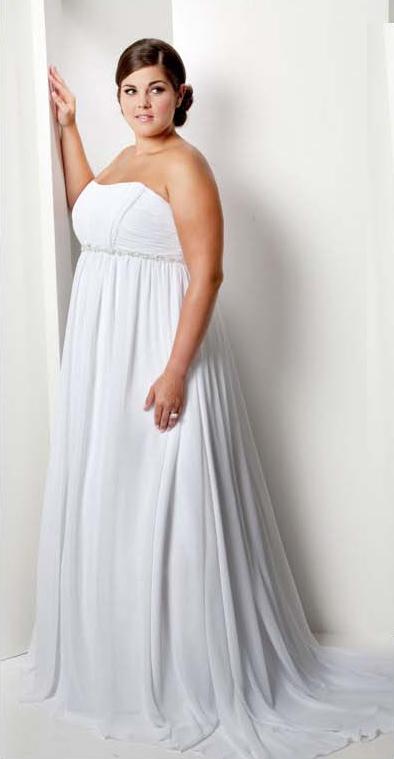 Fotos de vestidos de boda civil para gorditas