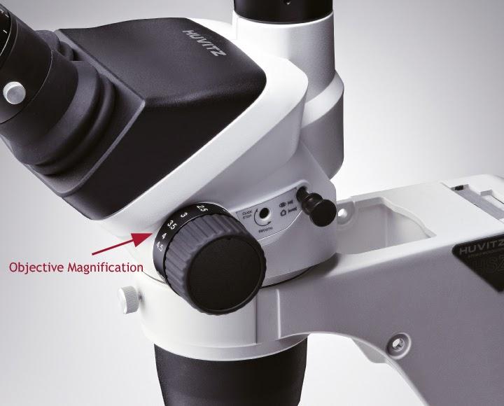zoom microscope knob image