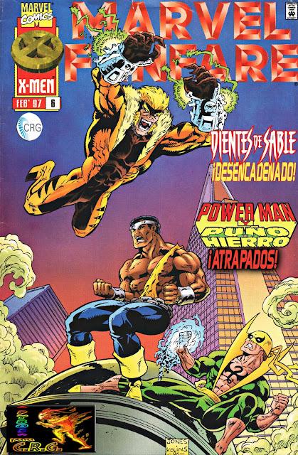Portada Marvel Fanfare Volumen 2 Nº 6 Powerman y Puño de Hierro traducido