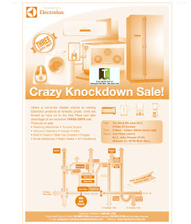 Electrolux Crazy Knockdown Warehouse Sale 2013