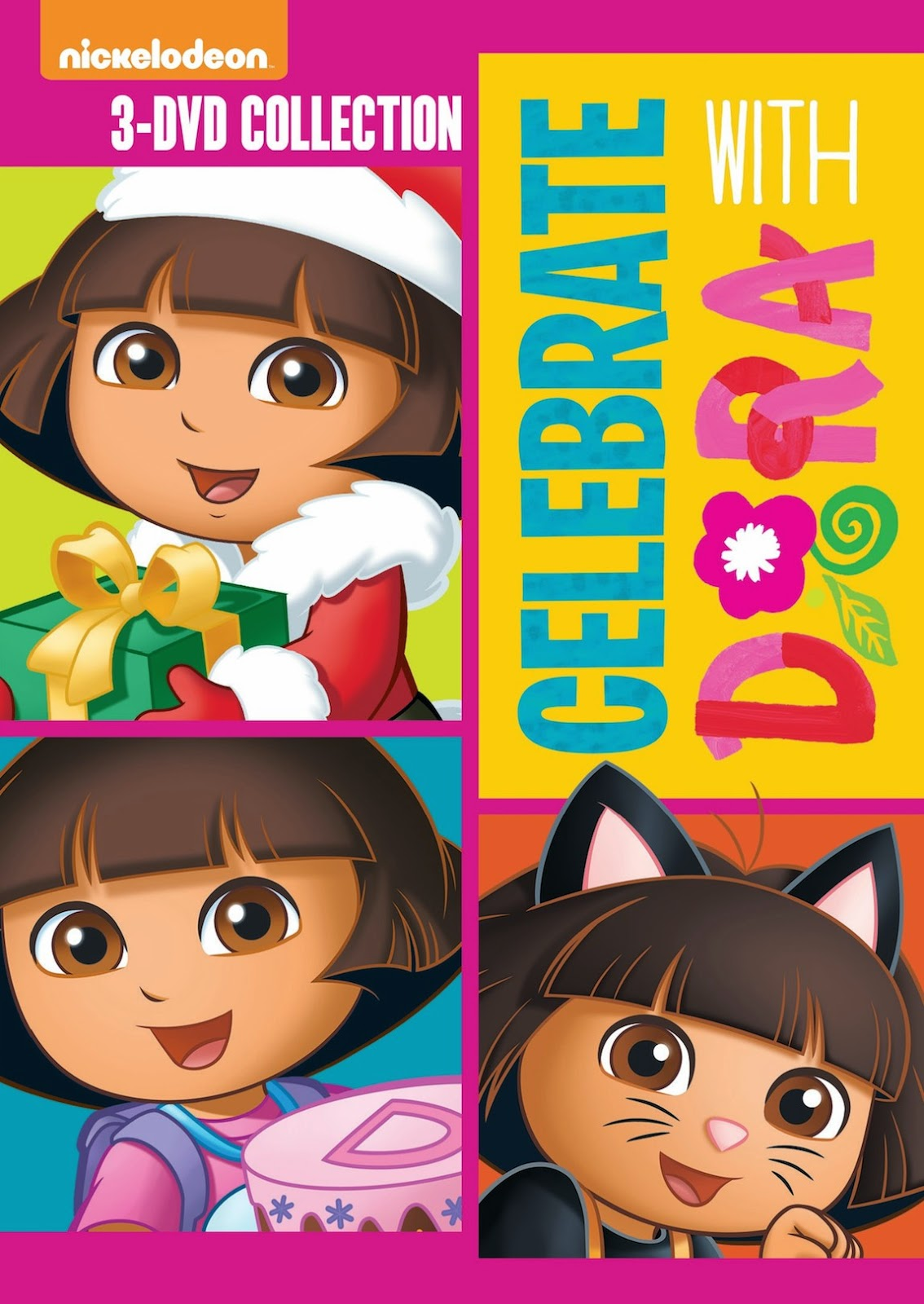 inspiredsavannah: dora the explorer: celebrate with dora, 3-dvd