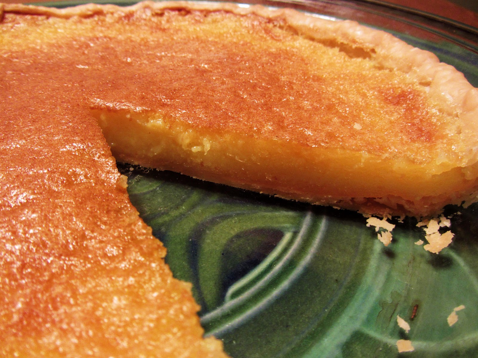 Meyer Lemon Chess Pie | From Lulu's Kitchen