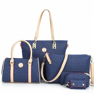 AA FASHION BAG ( 6 IN 1 SET) - Blue