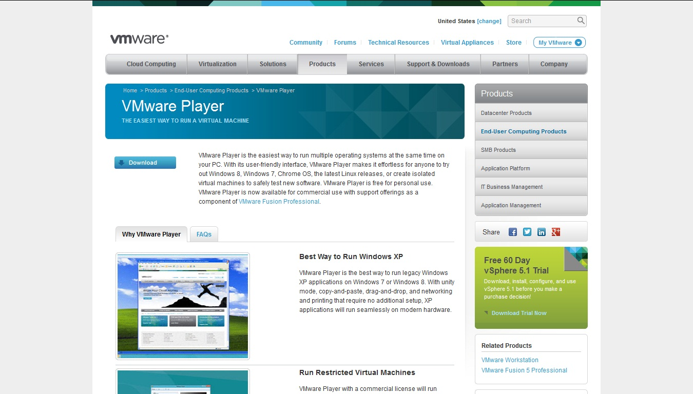 downloads vmware info desktop player