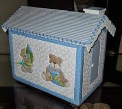 Casa/ Farmacinha ursinhos - cor azul bebê