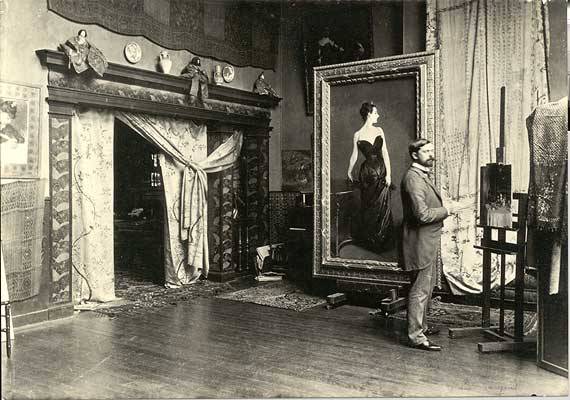 John singer sargent with his painting madame x