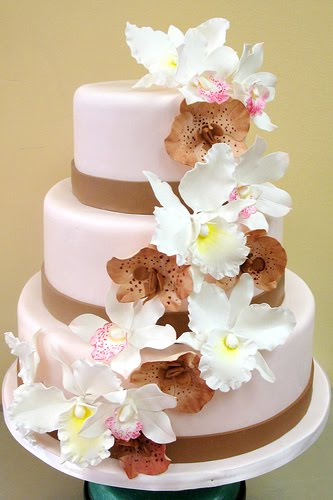 Orchid Wedding Cake See more daily pictures recipes tips and more visit