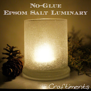 Craftiments:  No-Glue Epsom Salt Luminary