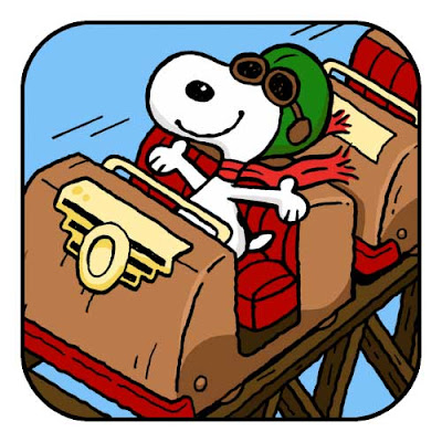 iPhone Apps, iPad Apps, iPhone Free Games, iPad Games, iOS Apps, iOS Games, Download Snoopy Coaster Game, 2013 Mobile Games, iPod Apps, iPod Games,
