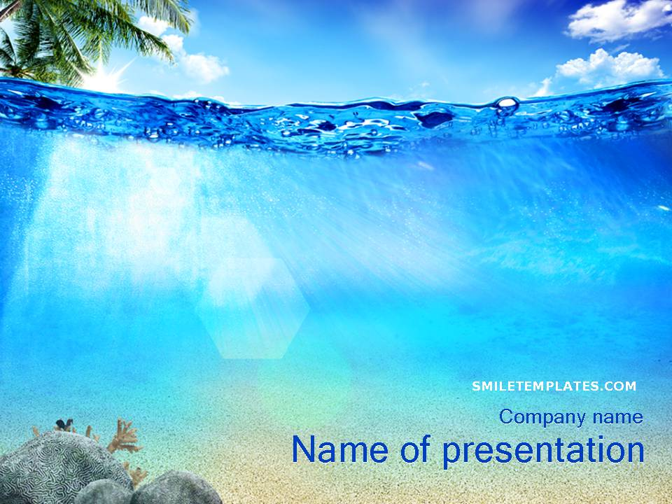 Beautiful sea powerpoint template 1