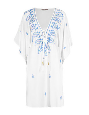 Marks and Spencer Pure Modal Embroidered Kaftan