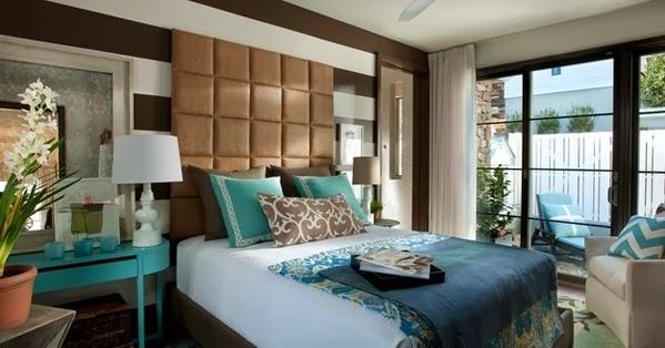 chambre 224 coucher brun et bleu