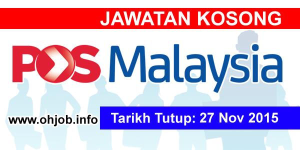 Jawatan Kerja Kosong Pos Malaysia Berhad logo www.ohjob.info november 2015
