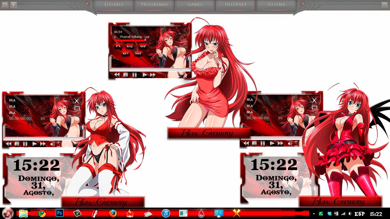 Rias Gremory[ Theme Windows 7 ] 5
