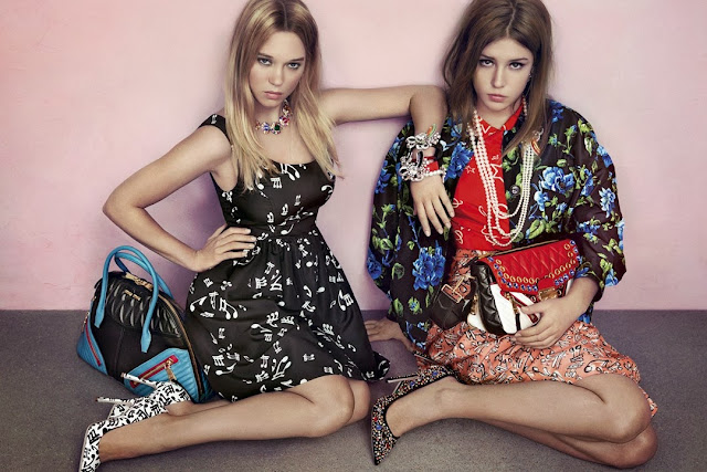 Adèle Exarchopoulos and Léa Seydoux FOR MIU MIU