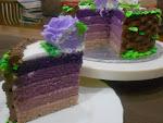 Kek Rainbow Versi Ombre