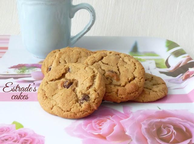 Receta de galletas con chocolate y crema de cacahuete 2