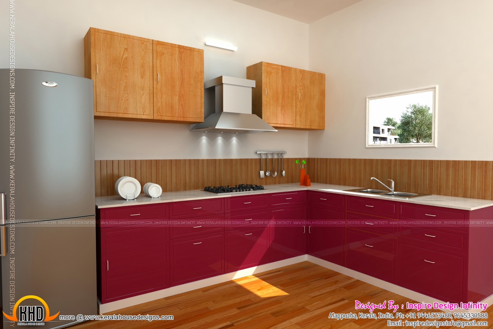 Interior Designs By Inspire Design Infinity Kerala Home Design - Kerala house kitchen design