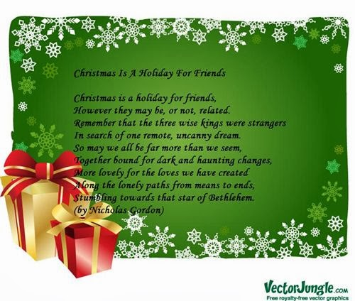 Famous Short Christmas Poems For Friends