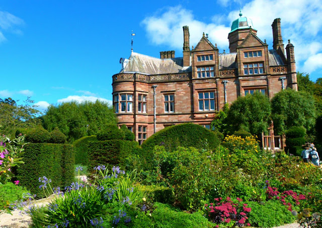 Holker Hall, Victorian, West Wing, Elliptical Garden