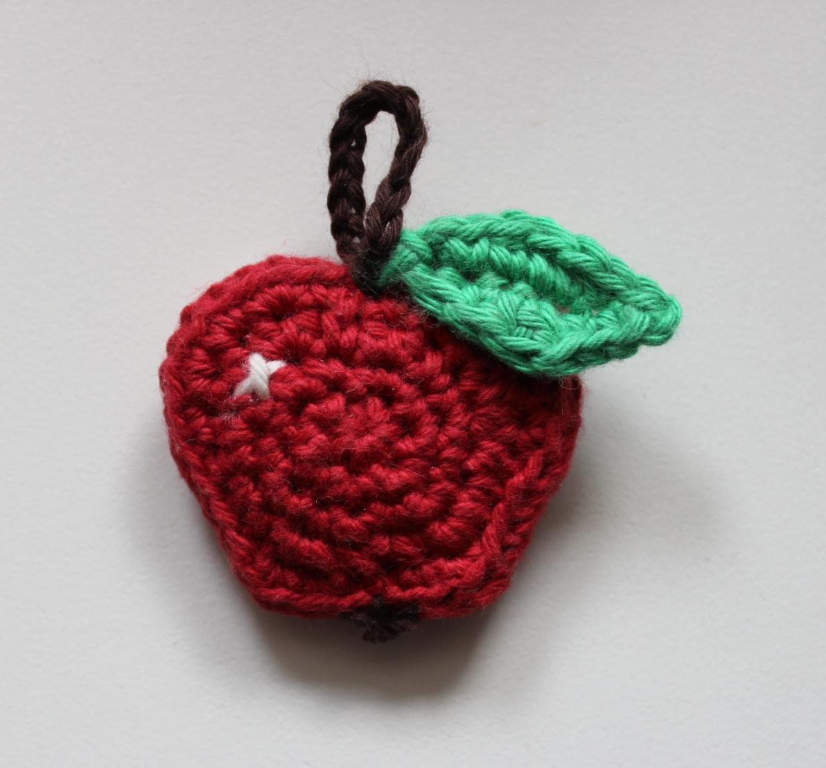 Hæklet æble møntpung