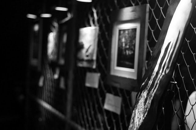 art display in black and white