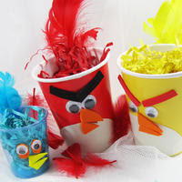 Angry Birds party ideas favor cup