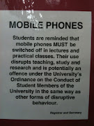 Mobile Phones not allowed. Just found this hanging in one of the refurbished .