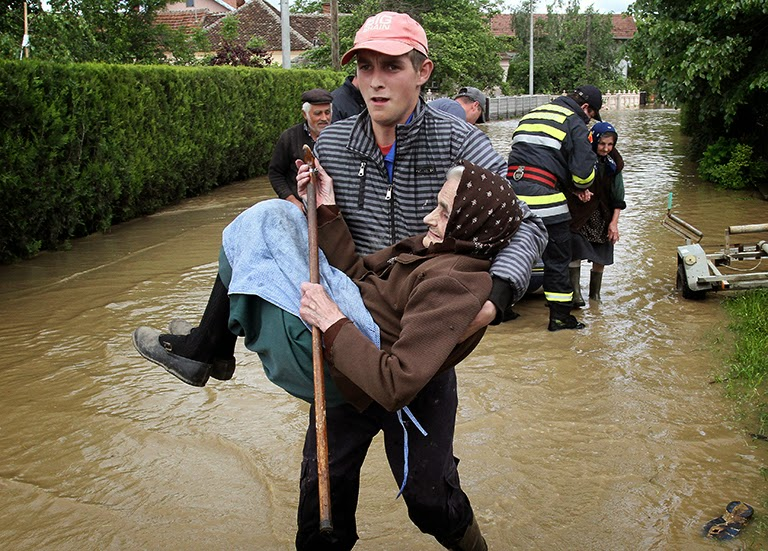 These 16 photos will disturb you... The Balkans in the grip of flood!