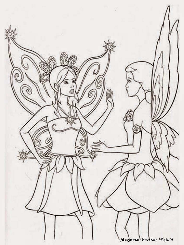 Gambar Sketsa Hitam Putih Barbie Magic Of The Rainbow