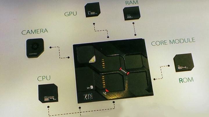 Imagen de la parte del teléfono donde se insertan los módulos